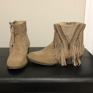 Fringed women's boots